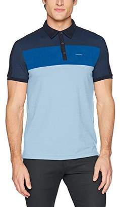 Calvin Klein Men's Short Sleeve Color Block Polo Shirt