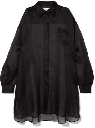 Maison Margiela Oversized Silk-organza Shirt - Black