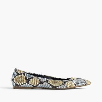 Lottie flats in snakeskin-printed leather $138 thestylecure.com