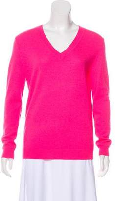 White + Warren V-Neck Cashmere Sweater