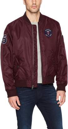 Tommy Hilfiger Men's Retro Varsity Letterman's Bomber Jacket