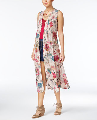 American Rag Juniors' Printed Maxi Vest, Created for Macy's $59.50 thestylecure.com