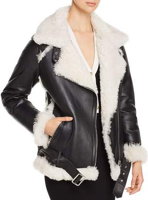 Yves Salomon Lamb Shearling Aviator Jacket