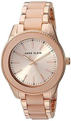 Anne Klein Women's AK/3214LPRG Rose Gold-Tone and Light Pink Resin Bracelet Watch