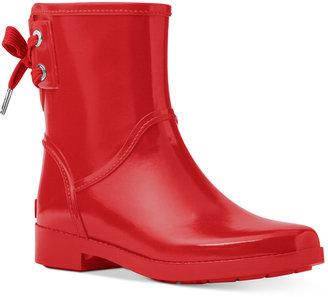 MICHAEL Michael Kors Larson Back-Tie Rain Booties $125 thestylecure.com