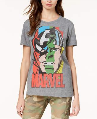 Hybrid Juniors' Marvel Heroes Portrait Graphic T-Shirt