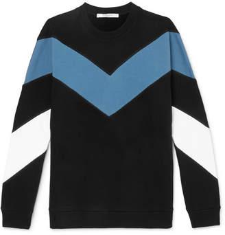 Givenchy Chevron Fleece-Back Cotton-Jersey Sweatshirt