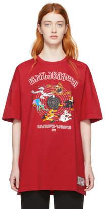 Vetements Red Cartoon T-Shirt