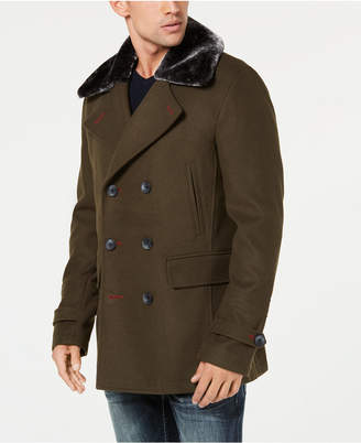 INC International Concepts I.n.c. Men's Double-Breasted Pea Coat