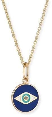 Sydney Evan 14k Black Diamond & Enamel Evil Eye Pendant Necklace