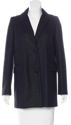 Carven Carven Wool Notch-Lapel Coat