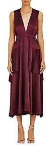 A.L.C. Women's Verena Silk-Blend Sleeveless Dress-Wine Size 10