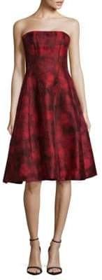 Oscar de la Renta Silk Fit-&-Flare Dress