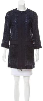 Tory Burch Embroidered Short Coat