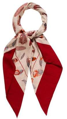Hermes Plumes Cashmere Silk Shawl