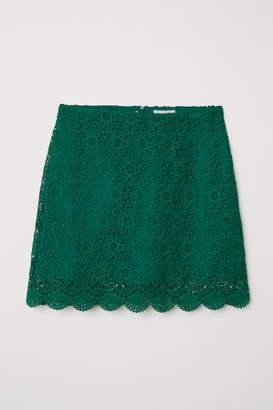 H&M Short Lace Skirt - Green