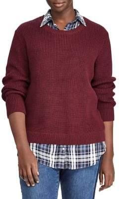 Lauren Ralph Lauren Plus Roundneck Layered Sweater