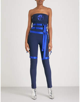 FENTY PUMA by Rihanna Harness-detail strapless neoprene jumpsuit