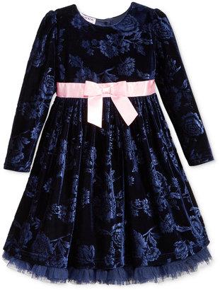 Blueberi Boulevard Floral-Print Velvet Special Occasion Dress, Toddler & Little Girls (2T-6X) $74 thestylecure.com