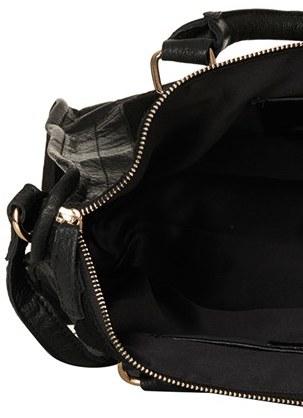 Topshop Leather & Suede Satchel