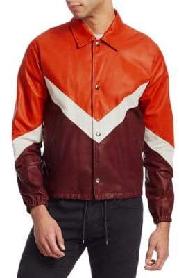 Valentino V-Stripe Leather Jacket