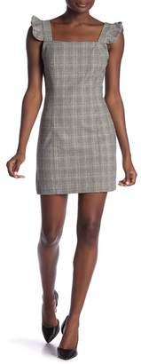 BB Dakota Megan Plaid Print Sheath Dress