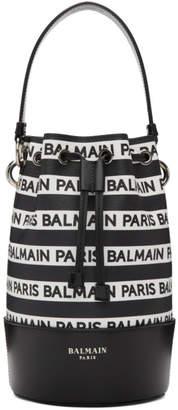 Balmain Black Small Logo Bucket Bag