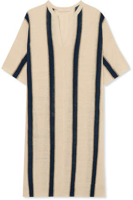Vanessa Bruno Imeo Striped Linen-blend Dress - Ecru