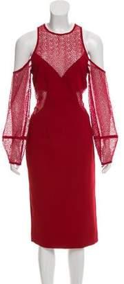 Nicholas Cold-Shoulder Midi Dress