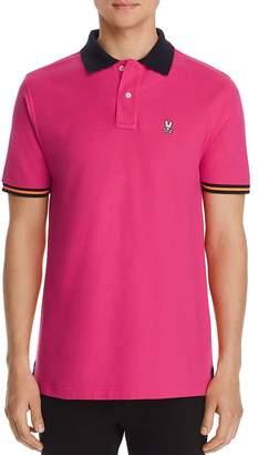 Psycho Bunny Derwent Contrast-Trimmed Regular Fit Polo Shirt