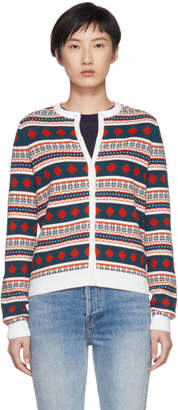 Carven Multicolor Fair Isle Cardigan