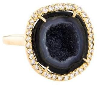 Kimberly McDonald 18K Diamond & Geode Cocktail Ring