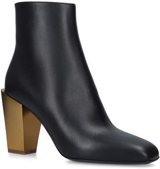 Salvatore Ferragamo Leather Mirrored Boots