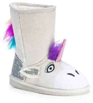 Muk Luks Unicorn Faux Fur Lined Boot (Toddler & Little Kid)
