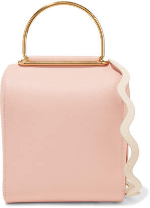 Roksanda Besa Two-tone Textured-leather Shoulder Bag