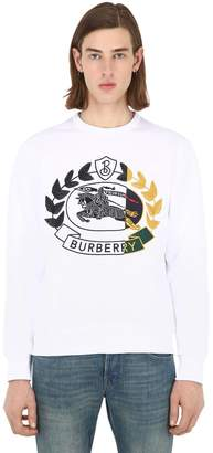 Burberry Embroidered Cotton Jersey Sweatshirt