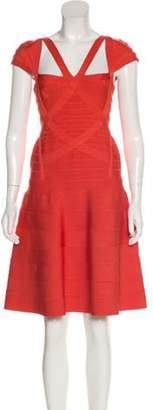 Herve Leger Beatriz Bandage Dress Terracotta Beatriz Bandage Dress