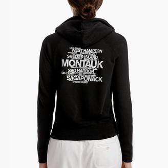 James Perse LONG ISLAND BEACH GRAPHIC HOODIE