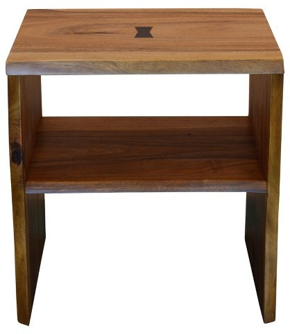 222 Fifth 222 Fifth Cayu Live Edge Side Table - Brown