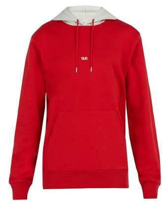 Helmut Lang - Taxi Print Hooded Cotton Sweatshirt - Mens - Red