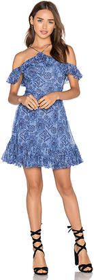 MAJORELLE Zuni Dress in Blue $248 thestylecure.com