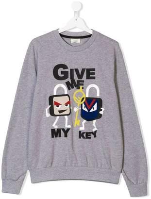 Fendi TEEN give my key sweatshirt