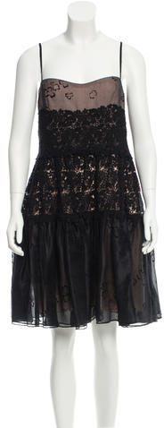 RED ValentinoRed Valentino Guipure Lace Knee-Length Dress w/ Tags