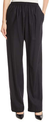 eskandar Wide-Leg Wool-Cashmere Trousers