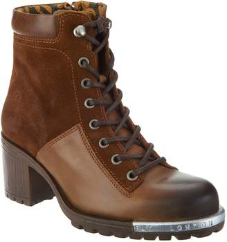 Fly London Leather Lace-up Ankle Boots - Leal