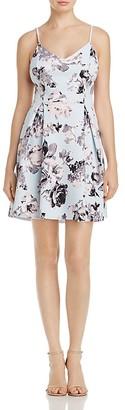 Floral V Neck Fit & Flare Dress $78 thestylecure.com