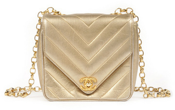 WGACA Vintage Chanel Gold Coin Quilted Bag