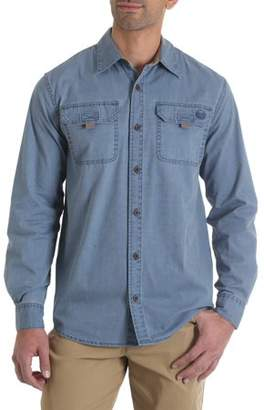 Wrangler Men's Long Sleeve Canvas Shirt