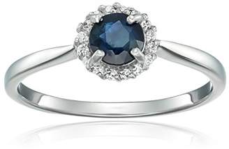 39d240077 Lapis Sterling Silver Halo and Cubic Zirconia Eternity Ring
