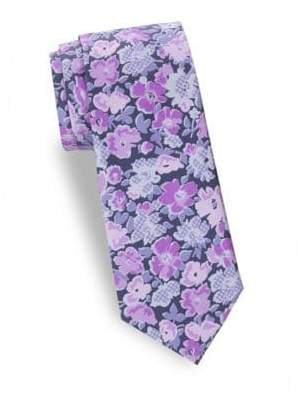 Saks Fifth Avenue Floral Silk Tie
